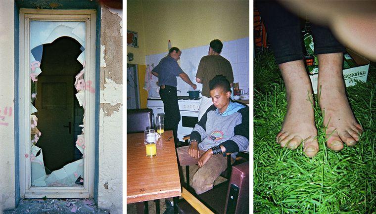 """Bild der Fotoausstellung """"Kennen wir uns? Straßenkinder fotografieren ihre Welt"""". Jessica G., """"Ausbruch"""" - Anonym, """"Allein"""" - Zappe, """"Wohin gehen?"""""""