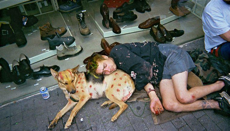 """Bild der Fotoausstellung """"Kennen wir uns? Straßenkinder fotografieren ihre Welt"""". Ute G., """"Ruhekissen"""""""