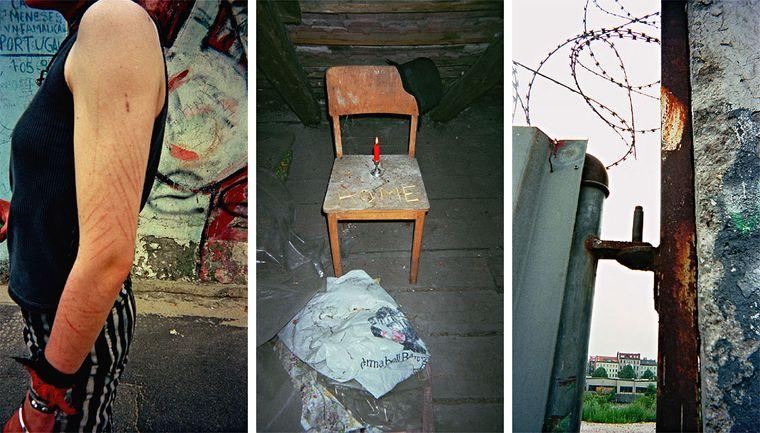 """Bild der Fotoausstellung """"Kennen wir uns? Straßenkinder fotografieren ihre Welt"""". Ruth, """"Anderen tu' ich nichts"""" - Cattaryna B., """"Home"""" - Ruth, """"Rauhe Perspektive"""""""