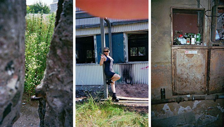 """Bild der Fotoausstellung """"Kennen wir uns? Straßenkinder fotografieren ihre Welt"""". Ruth, """"Zimmer mit Aussicht"""" - Hardcore, """"Job?"""" - FX-Ost, """"Sachsen ist überall"""""""