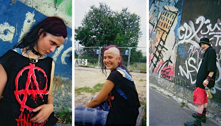 """Bild der Fotoausstellung """"Kennen wir uns? Straßenkinder fotografieren ihre Welt"""". Ruth, """"Ein Mensch ..."""" - Ruth, """"Zwei Gesichter"""" - Gnom, """"Wanderjahre"""""""